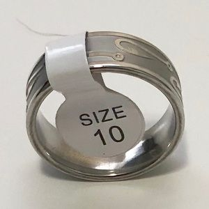 Other - Men's Silver Toned Ring, Size 10